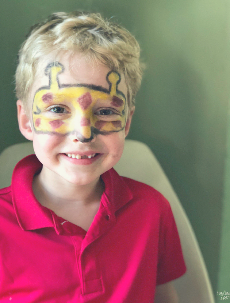 Wesley with Giraffe Face Paint