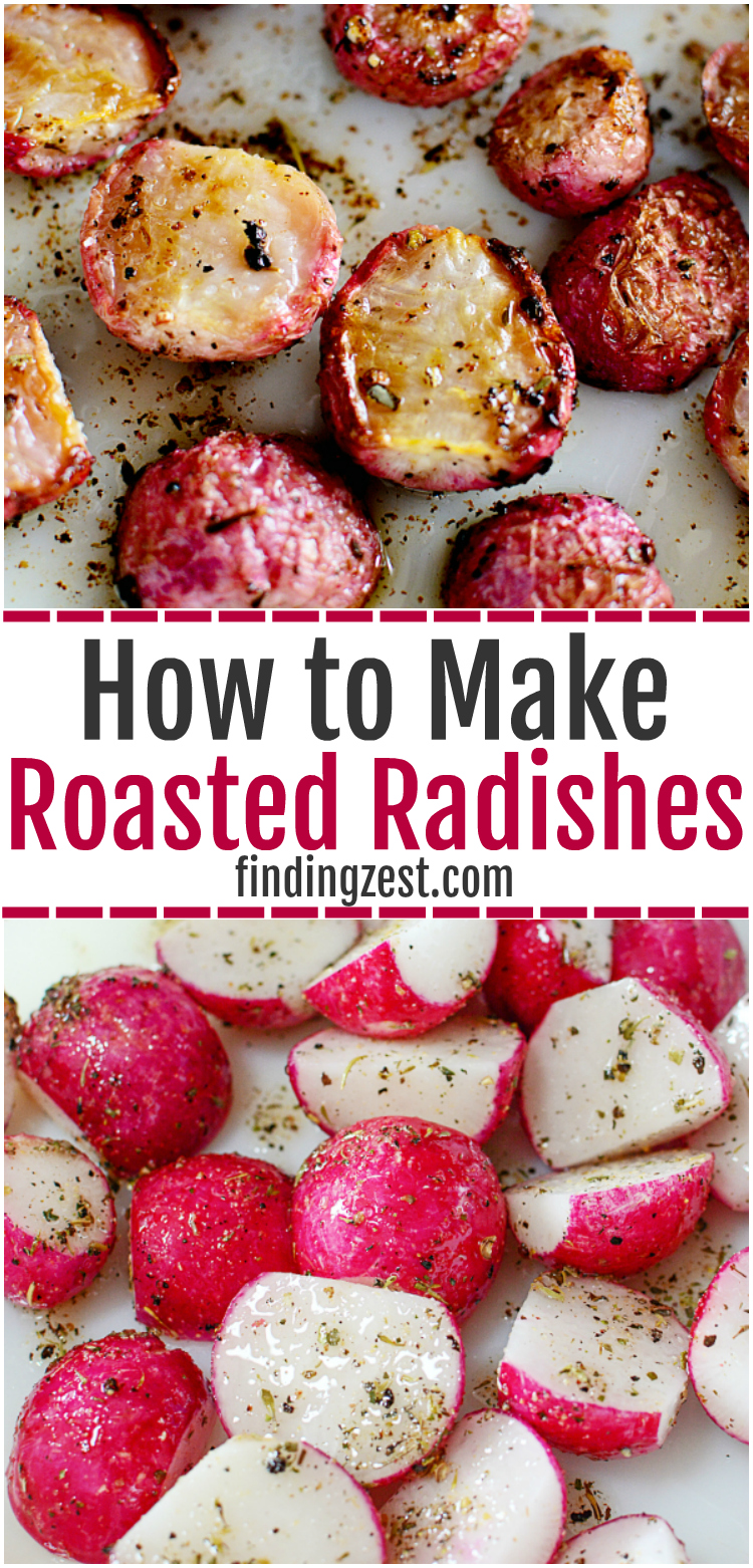 On a low carb diet and can't have potatoes? Don't like raw radishes? Try roasted radishes instead! Learn all about radishes and how this roasted radishes recipe is a great substitute for potatoes. Once roasted, these fresh radishes lose their spicy, peppery flavor and taste great with a dollop of sour cream!