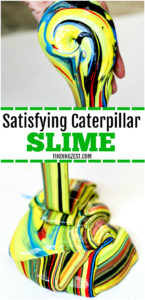 Learn how to make slime without Borax, including brightly colored slime that is sure to grab everyone's attention. Inspired by nature, this caterpillar slime recipe with liquid starch is so colorful and perfect for your outdoor lover! You won't believe how easy and fun this satisfying slime recipe is to make!