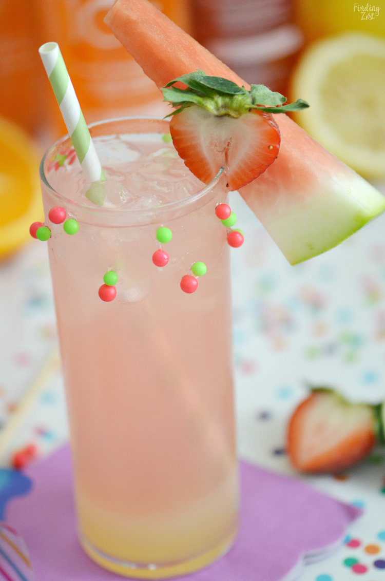 Add some sparkle to your day with a fun Strawberry Watermelon Cocktail recipe which requires only three ingredients. Offer guests frozen fruits and various drink ingredients so they can mix their own cocktails, including the Sparking Ice Mystery Flavor. Take a guess at the new flavor for a chance to win sweet prizes!