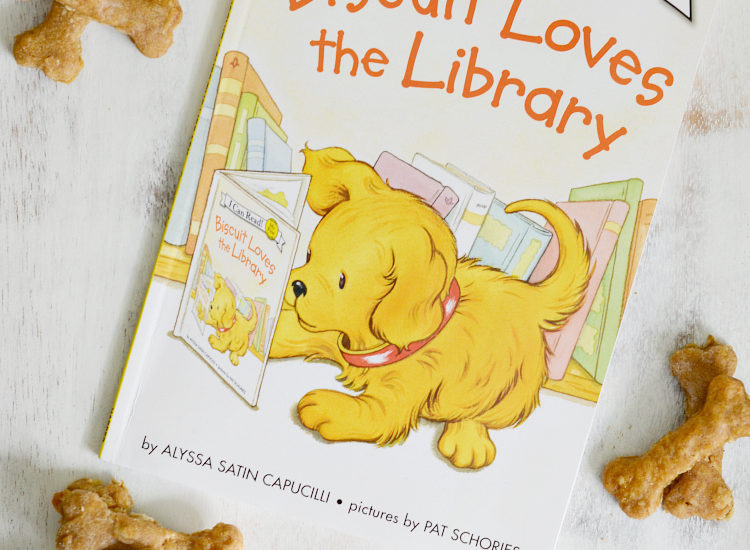 This dog biscuit recipe inspired by Biscuit the Dog is a perfect kids activity! Make these peanut butter and banana homemade dog treats with your child to pamper your pup. Don't forget to pick up Biscuit Goes to the Library, a level 1 book from the I Can Read! book series.