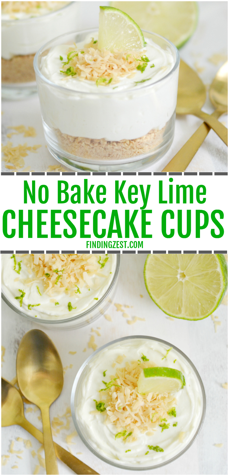 Make dessert in just 15 minutes with these no-bake key lime cheesecake cups! These parfaits can be whipped up in no time using Dannon Oikos Greek yogurt and cream cheese. Topped with toasted coconut, this dessert is sure dazzle your taste buds!