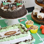 Football Party Dessert Table for Tailgating at Home