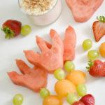 Dino Fruit Skewers with Yogurt Fruit Dip