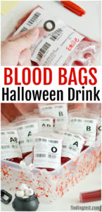 Entertain guests at your Halloween party with these fun blood bags! This red Halloween Drink (non-alcoholic) is perfect for filling fake I.V. bags designed specifically for drinks. Learn tips for how to fill and clip the bags and how to make the easiest edible fake blood splatters! This is also a great accessory to your vampire costume!
