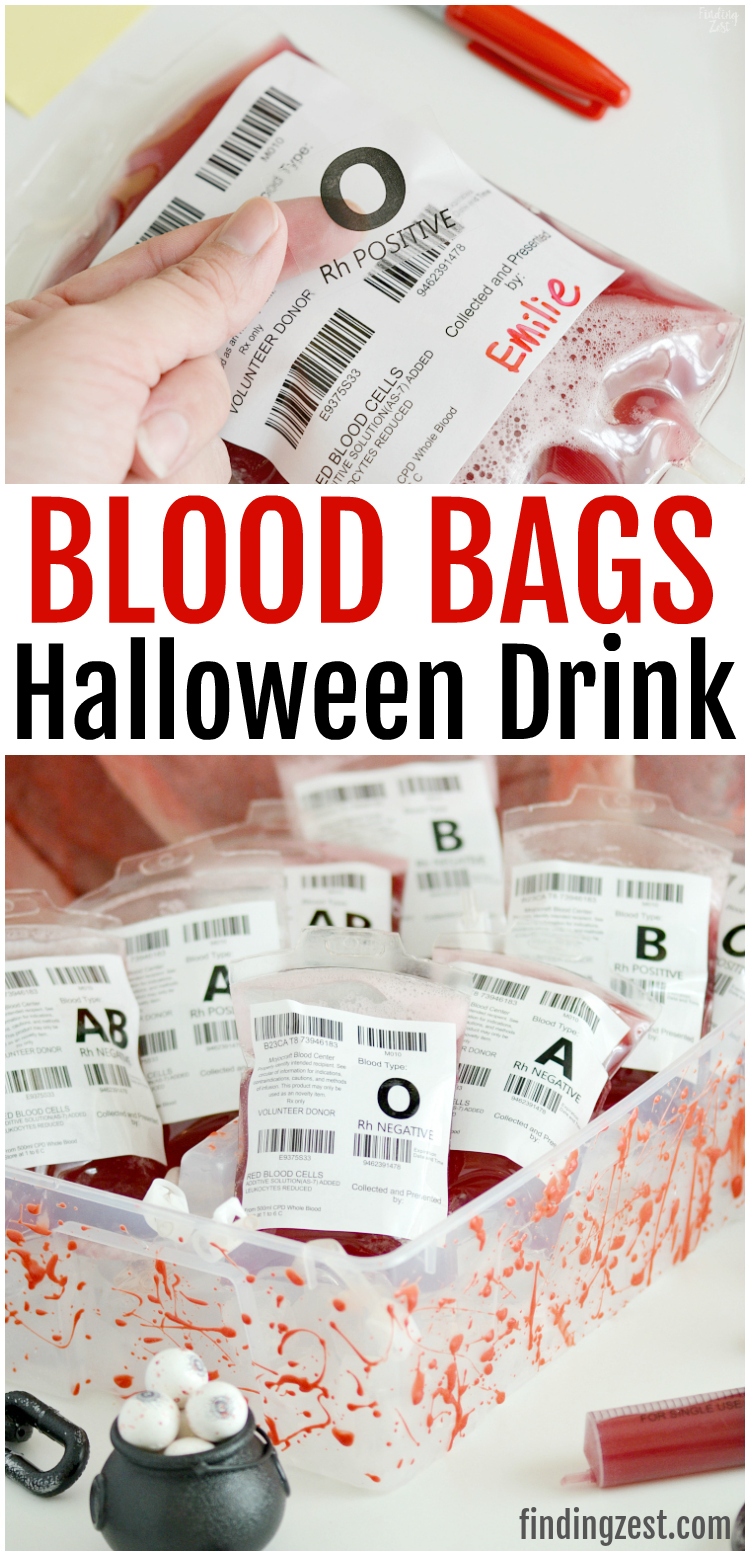Entertain Guests At Your Party With These Fun Blood Bags This Red Drink