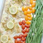 Lemon Pepper Tilapia Sheet Pan Dinner