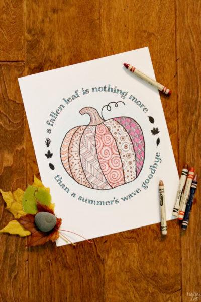 Pumpkin Coloring Page Printable