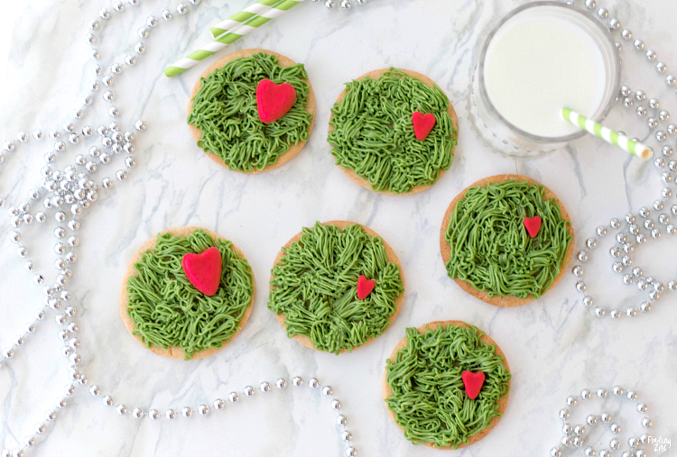 Grinch Cookies With Fur Frosting Finding Zest