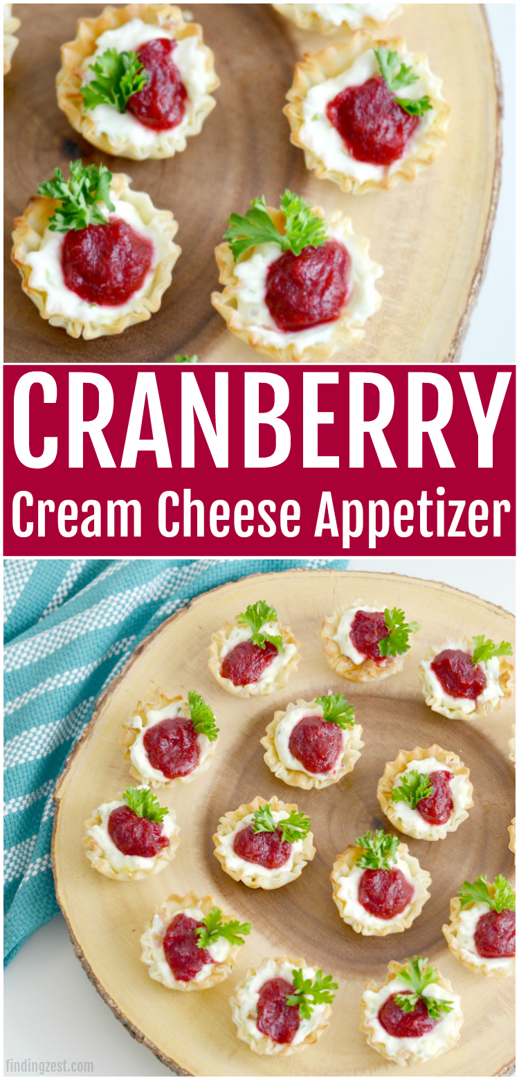 Cranberry Cream Cheese Appetizer Finding Zest
