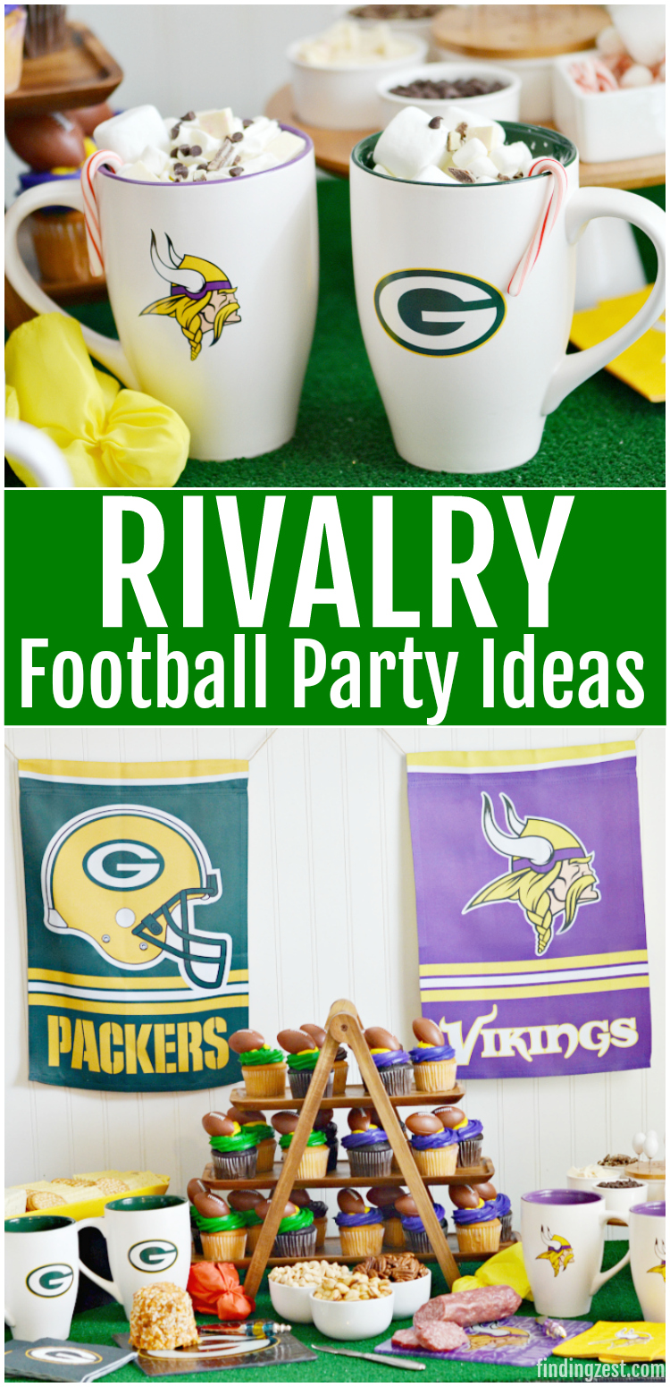 Celebrate long standing football rivalries with a party! These football party ideas and Homegating products will help you tailgate at home and represent both teams in the game. Perfect for those with friends and family who like different teams and want to watch the game together while they battle it out. Going head to head has never been more fun!