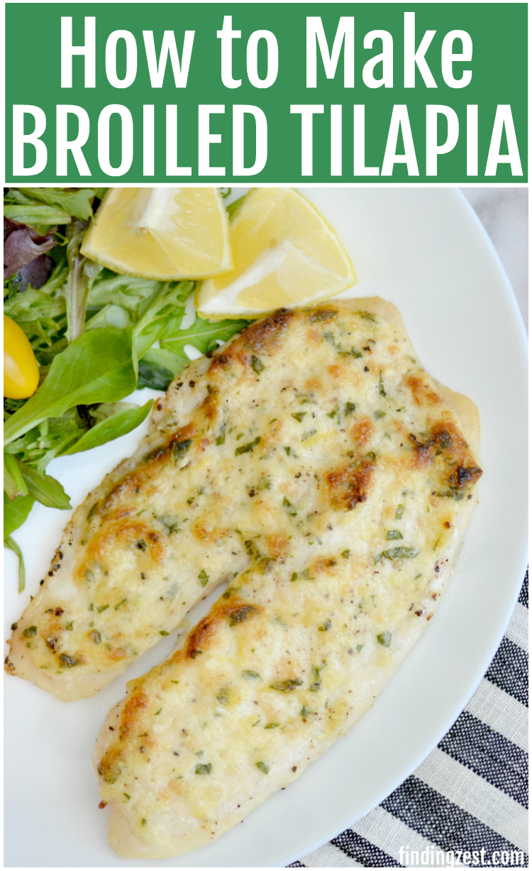 This is the best broiled tilapia recipe and all you need is 15 minutes to make it!  While this simple weeknight meal happens to be Whole30, Paleo and Low Carb diet approved, you'd never suspect it was healthy by the taste. Trust me, you'll love this flavorful low carb dinner idea.