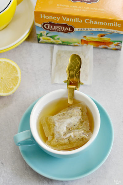 Whole30 Complaint Drink Herbal Tea in Cup with Mermaid Spoon
