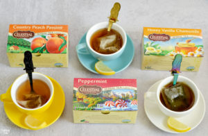 Celestial Seasonings Herbal Tea in Cups with Mermaid Spoons