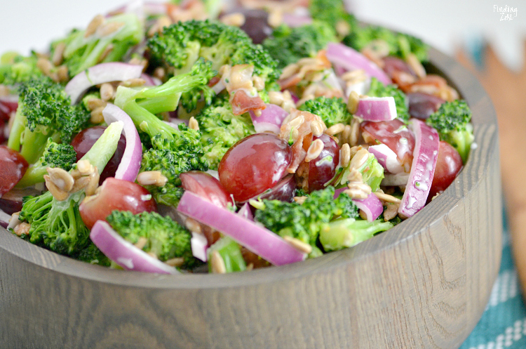 Cold broccoli salad side dish