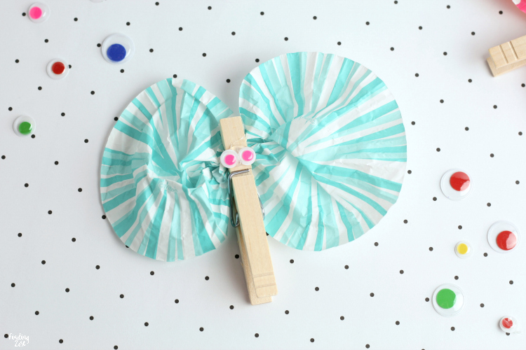 Butterfly Craft For Kids With Clothespins Finding Zest