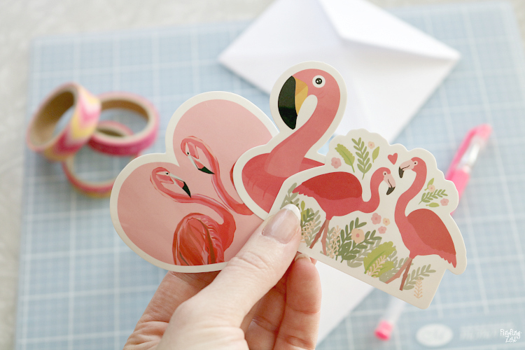 flamingo stickers for valentine's day