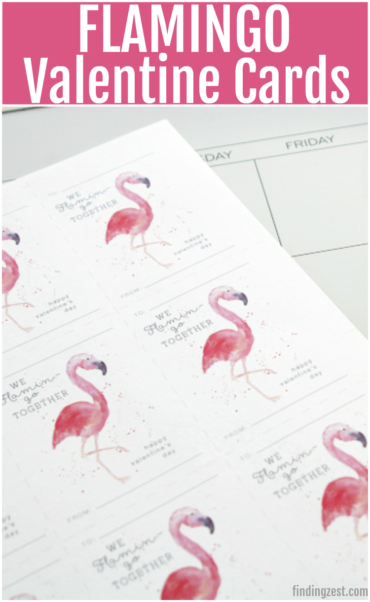flamingo valentine cards for a classroom