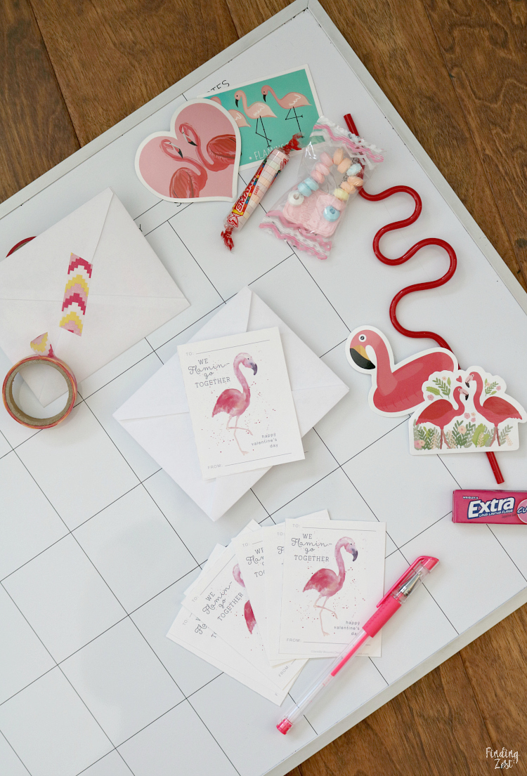 flamingo valentine cards and small gift ideas
