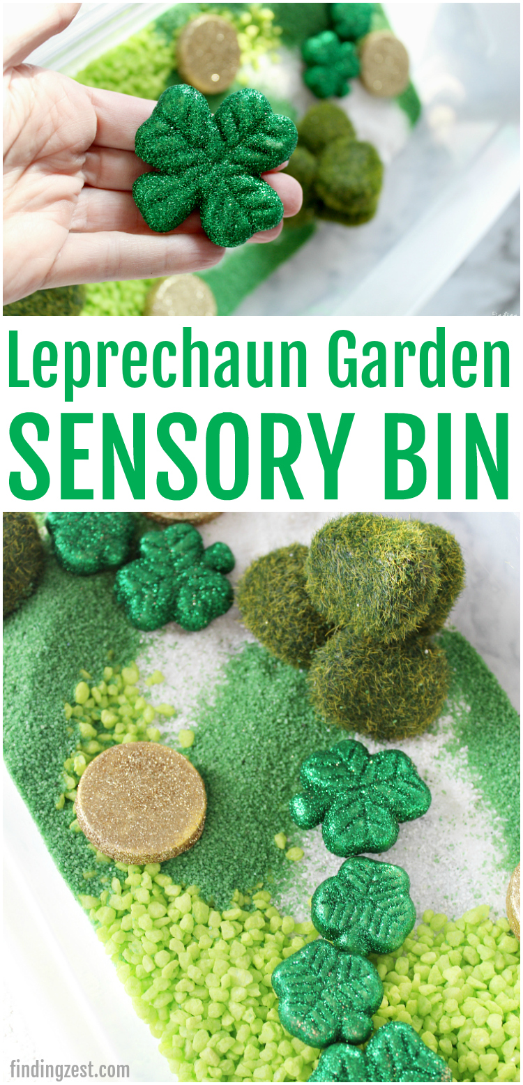 Leprechaun Garden Sensory Bin St Patrick's Day Activity for Kids
