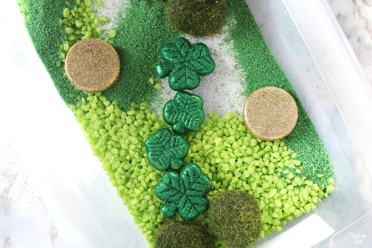 Fun ideas for a sensory bin for spring
