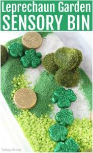Sensory Bin for St. Patrick's Day