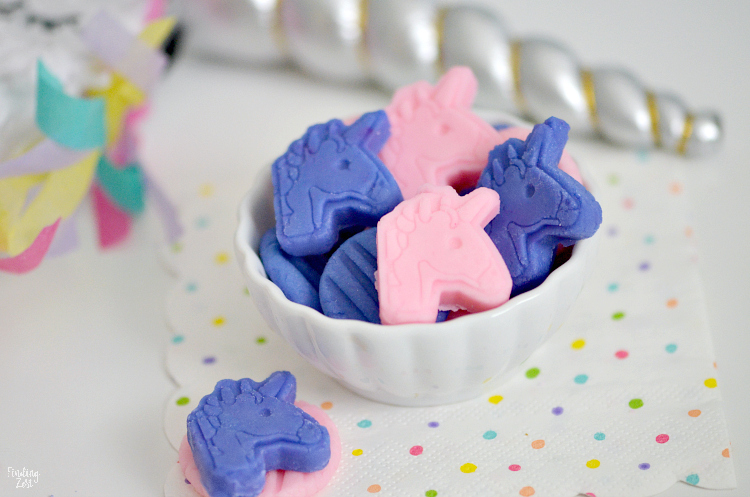 unicorn party treats homemade mints