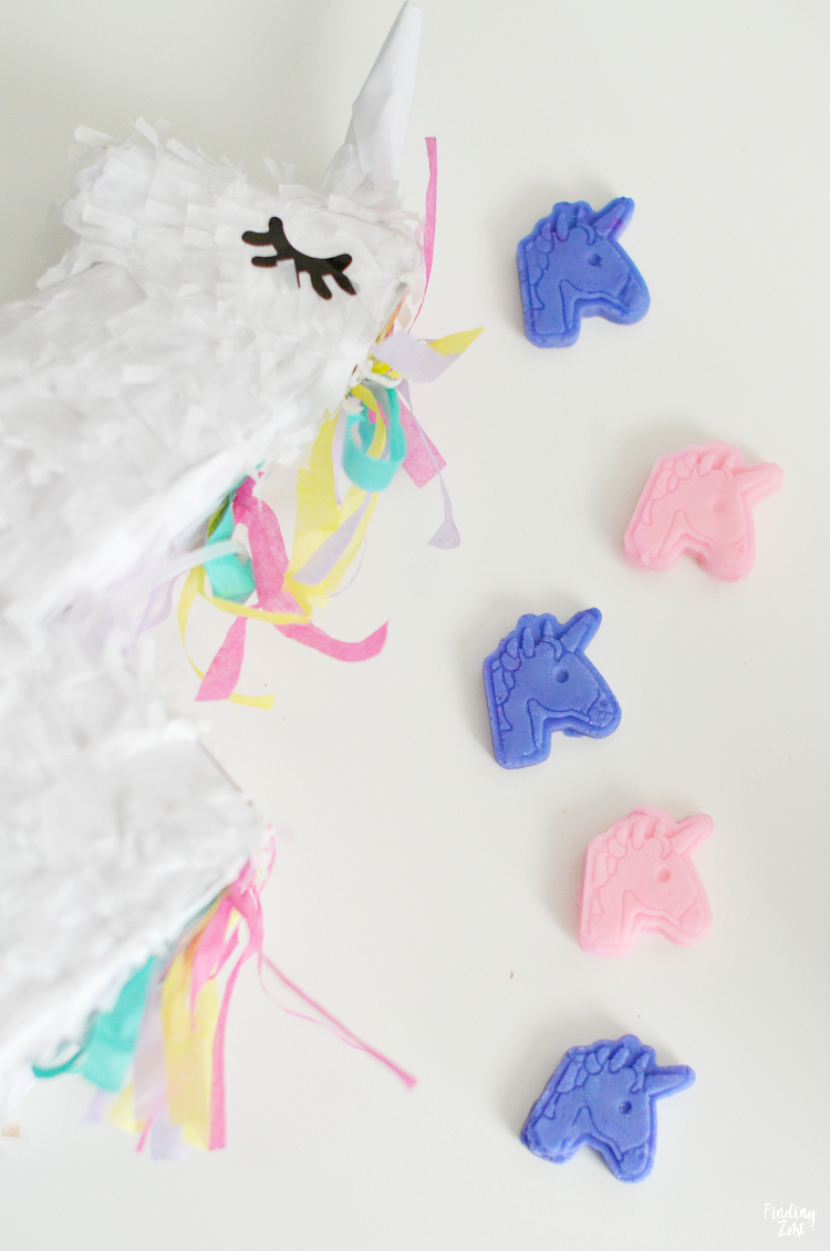 unicorn shaped mints that are homemade