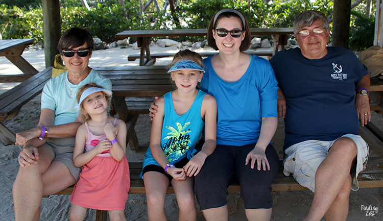 Family relaxing at Aquarium Encounters Florida Keys