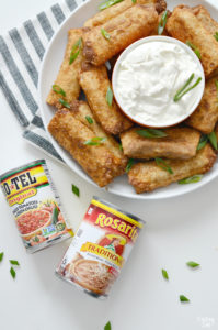 taco egg rolls with rotel and rosarita