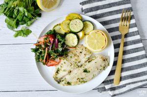 baked tilapia meal idea
