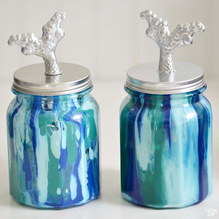 two slightly different methods for mermaid jar with unicorn spit