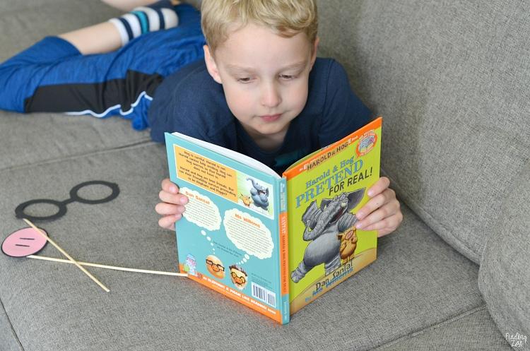 Reading Harold and Hog Pretend for Real by Dan Santat