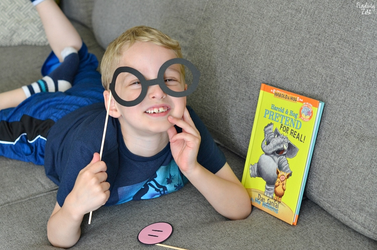 Wesley Pretending to Be Gerald Elephant Piggie Mo Willems