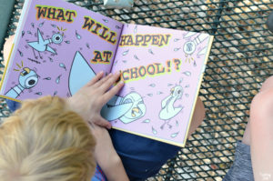 Inside Look at The Pigeon Has to Go to School by Mo Willems