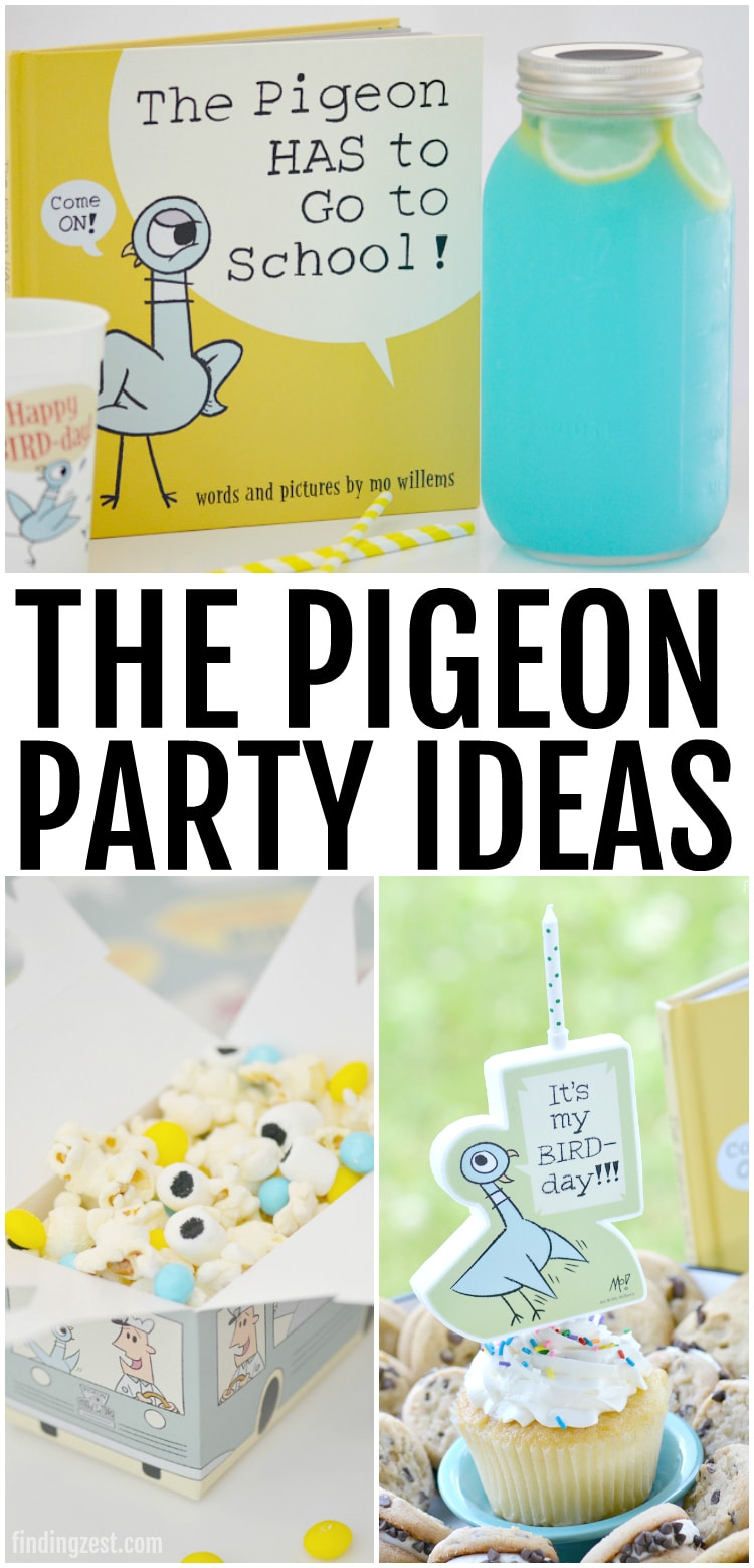 This lemonade punch recipe is the perfect drink to serve guests at your Pigeon party! Created in celebration of The Pigeon HAS to Go to School! by Mo Willems, this blue drink mimics the colors of the beloved book character, Pigeon. Serve this refreshing blue lemonade with lemon slices in a large mason jar to make it super easy to transport.