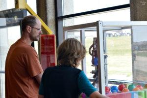 Child with dad at Bluedorn Science Imaginarium