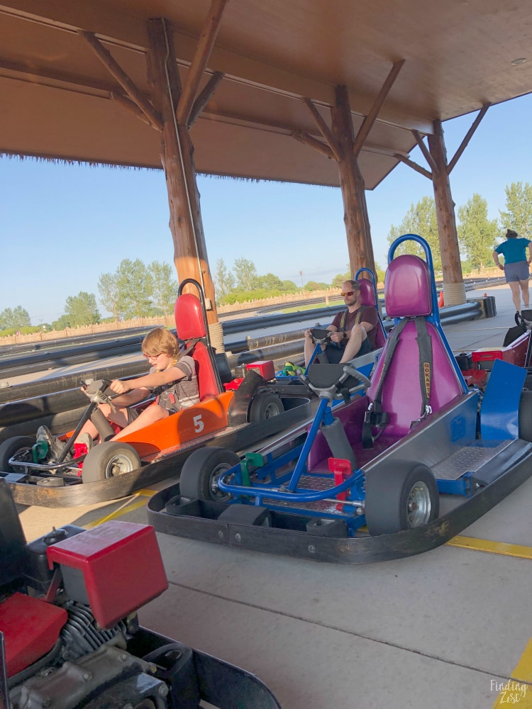 Go-Karts at Lost Island Waterloo Iowa