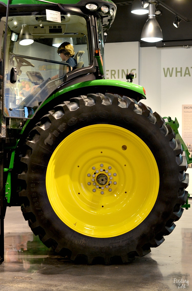 Huge tractor at John Deere Museum in Waterloo Iowa