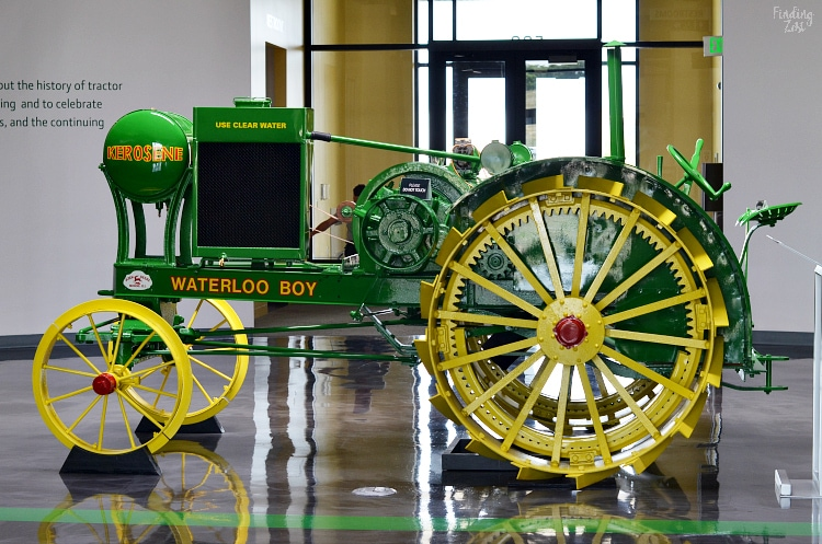Waterloo Boy Tractor in the John Deere Museum Lobby