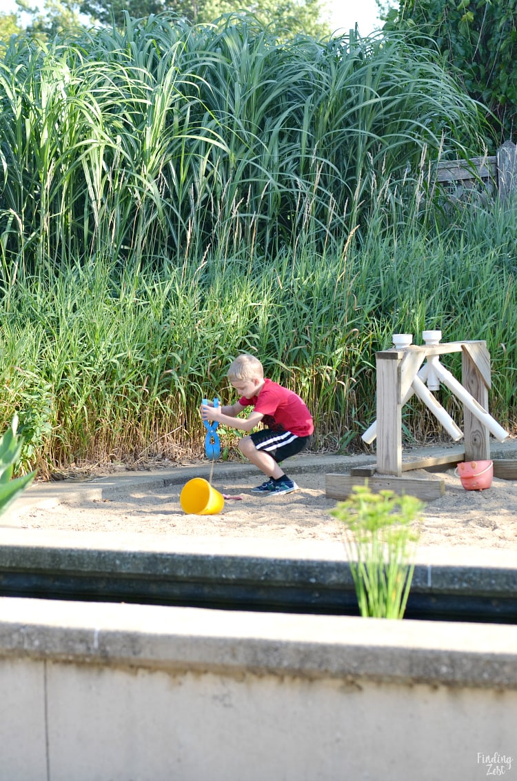 Kids garden at the Cedar Valley Arboretum Botanic Gardens in Waterloo Iowa