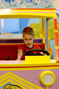 Driving a Bus at Phelps Youth Pavilion Waterloo
