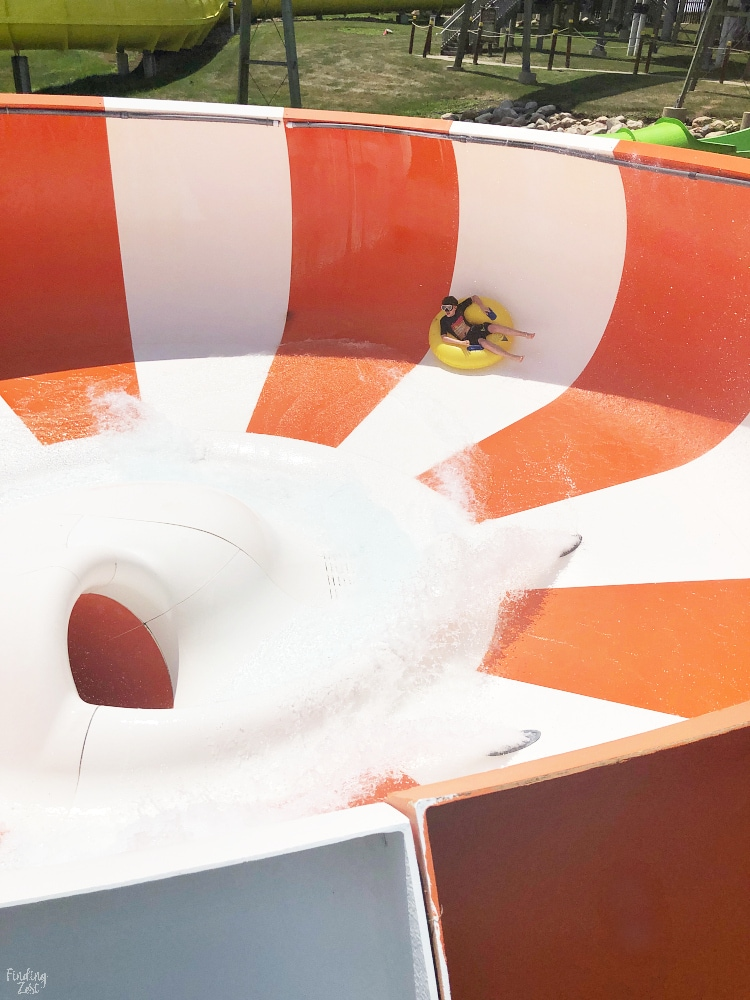 Tangerine Tempest Water Slide at Lost Island Waterpark