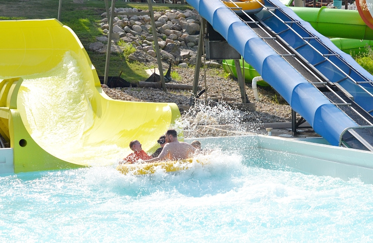 Calypso Cascade at Lost Island Waterpark in Waterloo Iowa