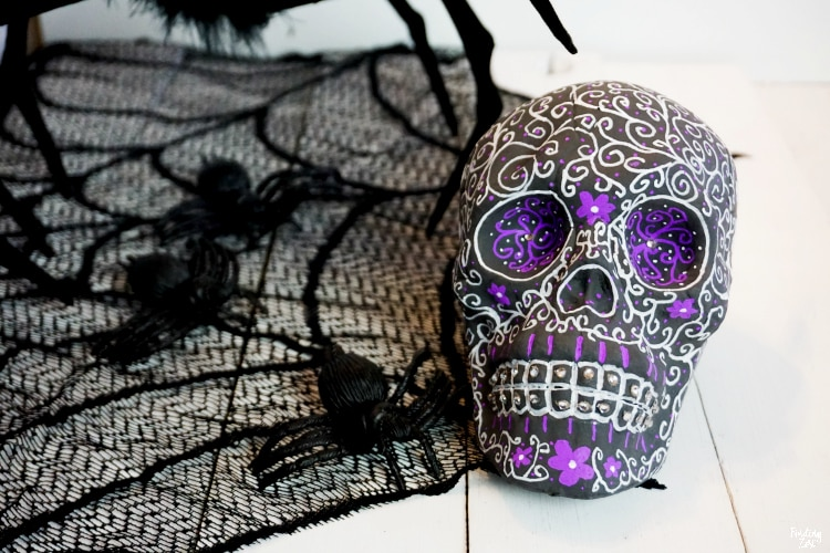 DIY Sugar Skull decor craft for Halloween