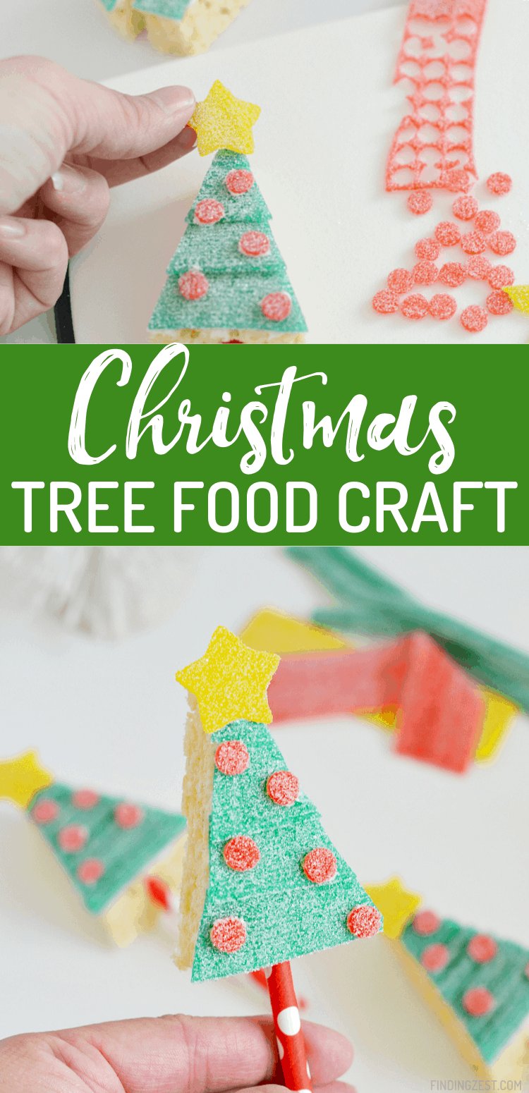 Skip the baking and focus on the decorating fun with a Christmas food art activity featuring Sour Power Candy! These Christmas Tree Rice Krispie Treats on a stick are sure to make your holiday dessert festive. Add a treat bag and use them for easy gift giving!
