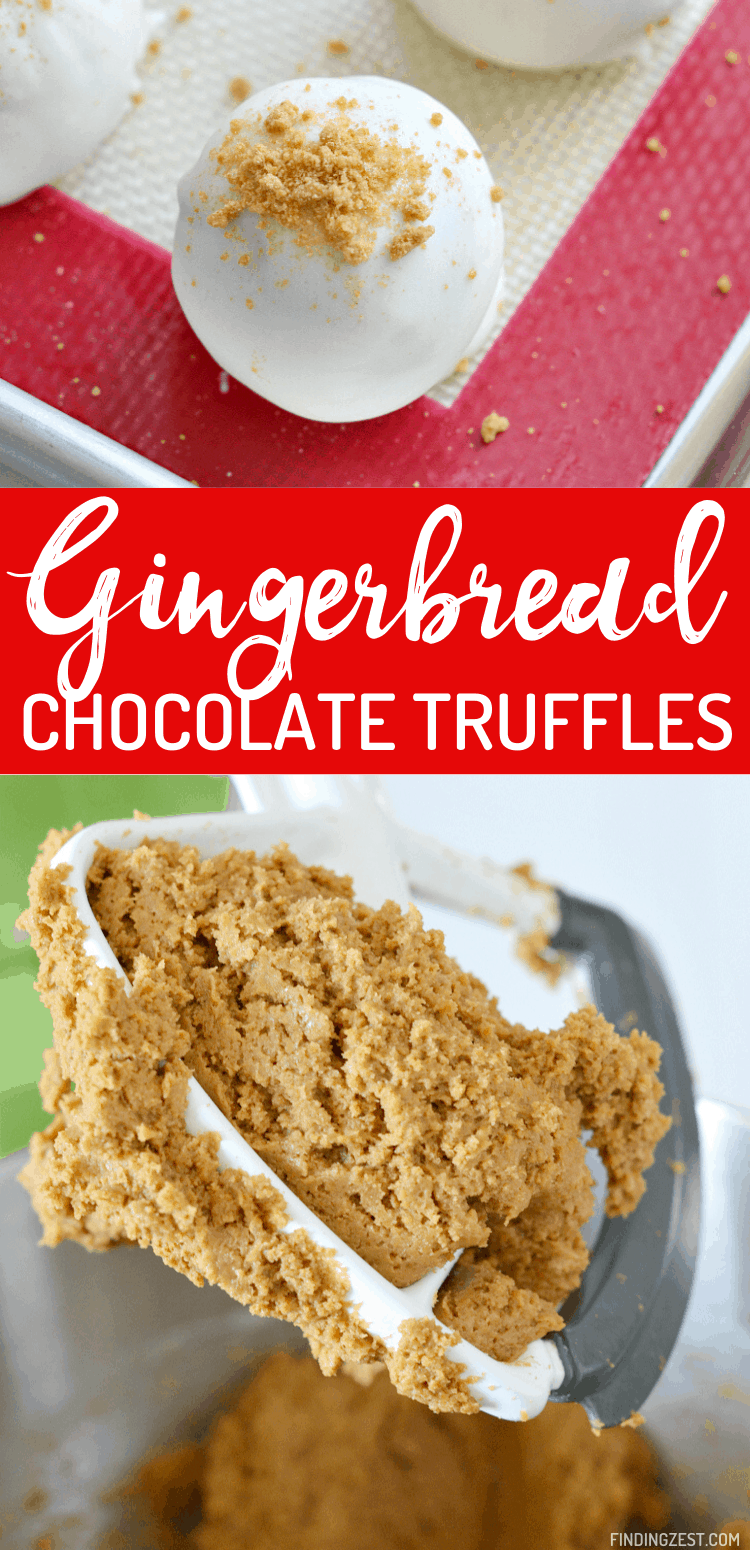 Gingerbread truffles are the holiday treat you didn't know you needed! Simple to make, these chocolate truffles look great on any holiday dessert table and only require a few ingredients.