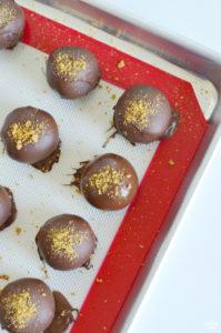 Gingerbread Truffles Dipped in Semi-Sweet Chocolate