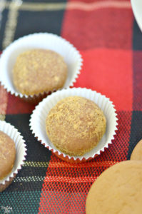 Gingerbread truffles rolled in cookie crumbs