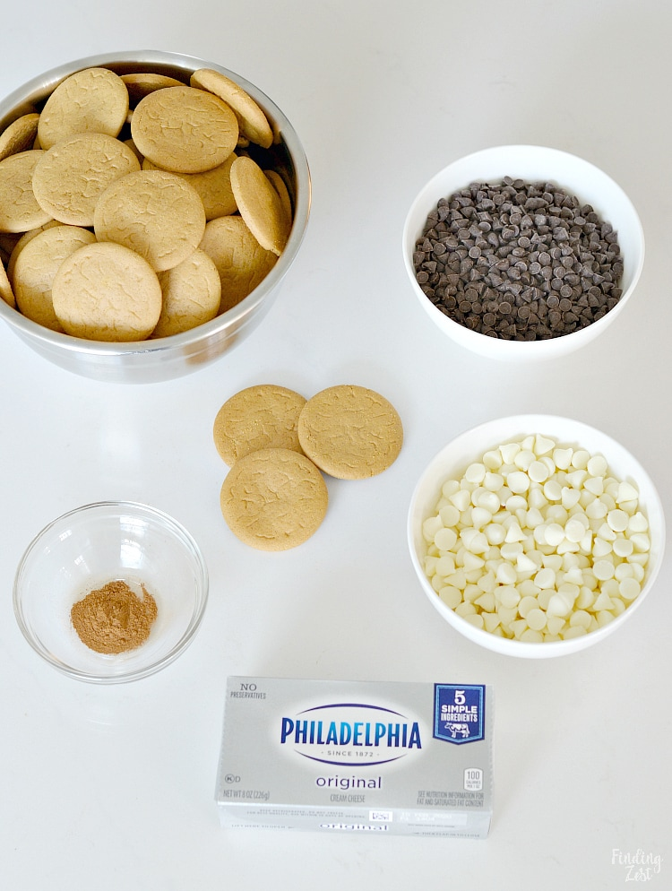 Ingredients to make gingersnap truffles